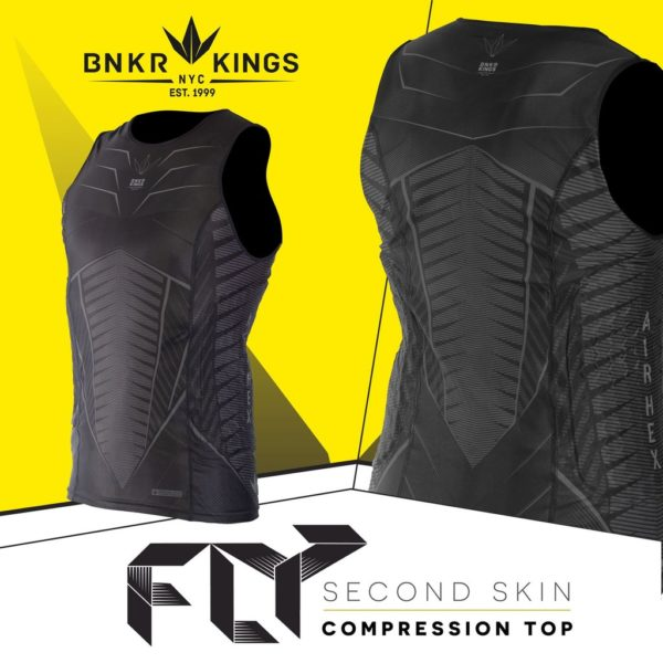 BUNKERKINGS FLY SLEEVELESS COMPRESSION TOP 1